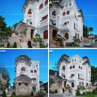 Mẫu thiết kế biệt thự kiến trúc Pháp tại thành phố Tuyên Quang