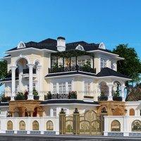 thiết kế biệt thự tân cổ điển đẹp như mơ tại Yên Dịnh Thanh Hóa