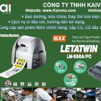 Máy in đầu cốt LM-550A/PC và Máy in, bế cắt nhãn tự động CPM-100HG5M