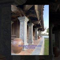 Cột đá - Mẫu cột đá vuông cho kiến trúc nhà thờ họ