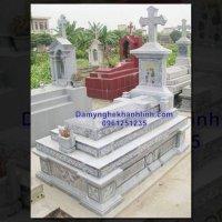 Mẫu mộ đẹp bằng đá dành cho người theo đao - mộ đá công giáo