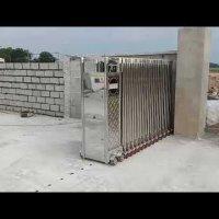 Cổng xếp tự động, Cổng xếp inox  lắp tại Biên Hòa- Đồng Nai